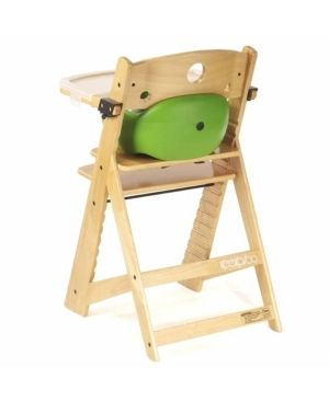 Keekaroo Height Right High Chair with Infant Insert and Tray   Natural  lime