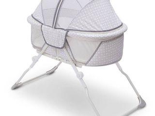 Delta Children EZ Fold Ultra Compact Travel Bassinet   Gray