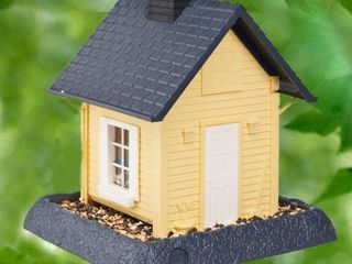 North States Village Collection Yellow Cottage Birdfeeder
