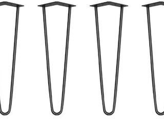Black 16in Hairpin legs