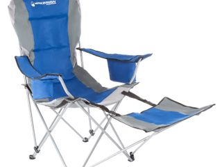Blue Camp Chair w  Footrest