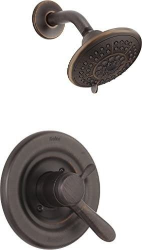 Delta Faucet lahara 17 Series Dual Function Shower Trim Kit with 5 Spray Touch Clean Shower Head  Venetian Bronze T17238 RB  Valve Not Included