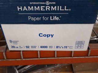 Hammermill 150400 Copy Paper  20lb  92 Bright  8 1 2 X 14 5 000 Sheets