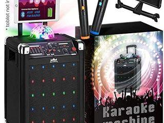 Wireless Karaoke Machine Microphone Speaker Disco Ball Bluetooth Singing System