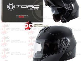 Torc T27B Motorcycle Matte Black Modular Helmet With Bluetooth Communication  X large  Retail  224