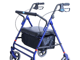 Invacare Bariatric Rollator  500 lb  Weight Capacity  Flip Up Padded Seat  66550 Retail  150