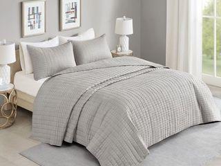 Comfort Spaces Kienna Bedspread Mini Set  King  Gray