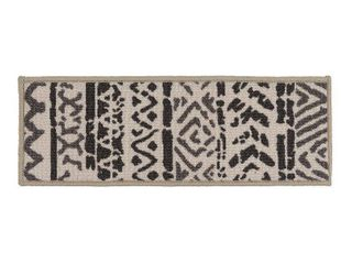 World Rug Gallery Bohemian Tribal Design Stair Treads  White  13 PK