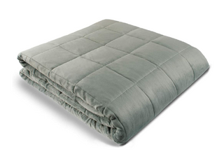 Weighted Blanket   48  X 72    12 lbs   No Cover Required   Fits Full Twin Size Bed   for 110 150 lb Adult   Silky Minky Grey   Premium Glass Beads   Calming Stimulation Sensory Relaxation