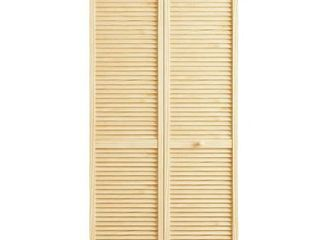 Kimberly Bay louvered Wood Primed Bi Fold Door