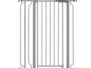 Regalo Extra Tall Easy Step Metal Walk Through Baby Gate   Platinum
