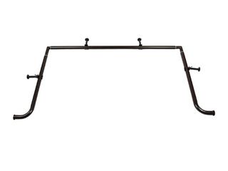 Meriville 1 Inch Diameter Bay Window Curtain Rod Set for Bayview Windows  Oil Rubbed Bronze