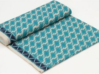 Blue and Green floral mat