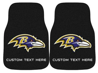 Baltimore Ravens 2 Piece Carpet Car Mat Set