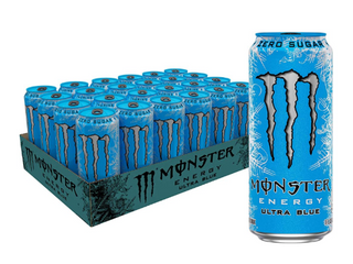 24 Cans  Monster Energy Ultra Blue  16 Fl Oz