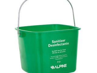 Alpine Industries 8 Qt  Green Plastic Cleaning Bucket Pail