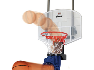 Franklin Sports Mini Basketball Hoop with Rebounder and Ball   Over The Door Basketball Hoop With Automatic Ball Rebounder   Indoor Basketball Game For Kids