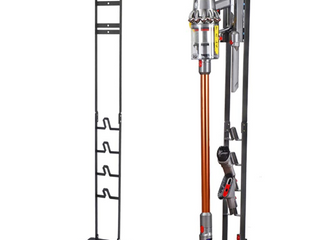 Vacuum Stand  Vacuum Accessories Stable Metal Storage Bracket Holder for Dyson Handheld V10 V8 V7 V6 Cordless Vacuum Cleaners  Black