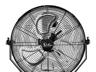 18 Inch Industrial Wall Mount Fan  3 Speed Commercial Ventilation Metal Fan for Warehouse  Greenhouse  Workshop  Patio  Factory and Basement   High Velocity