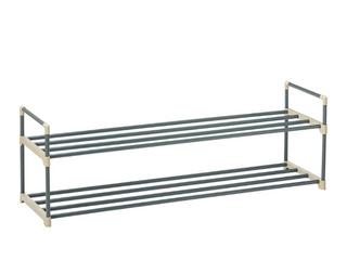 2 tier Shoe Rack Organizer Storage Bench   Holds 12 Pairs   Organize Your Closet