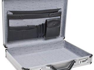 RoadPro SPC 931R 17 5  x 4  x 13  Silver Aluminum Briefcase