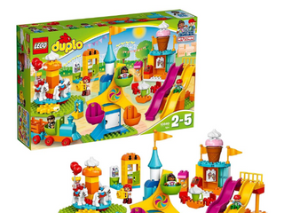 lEGO DUPlO Town Big Fair 10840 Role Play and learning Building Blocks Set for Toddlers Including a Ferris Wheel  Carousel  and Amusement Park  106 pieces