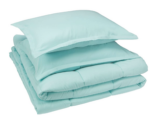 Amazon Basics Comforter Set  Full   Queen  Green  Microfiber  Ultra Soft