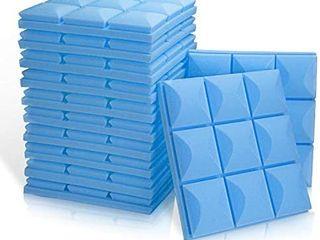 Acoustic Foam Panels 2  12  12  Mushroom Studio Wedge Tiles  9 block Mushroom Design  Blue  Retails 29 99