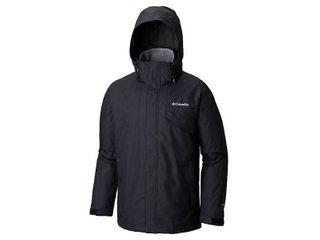 Columbia Bugaboo II Fleece Interchange Jacket for Men   Black Charcoal   l  Retails 180