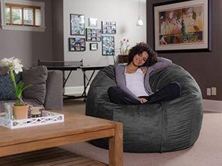Sofa Sack  Plush Ultra Soft Bean Bag Chair  Memory Foam Beanless Bag Chair with Microsuede Cover  Charcoal  Retails 99 98