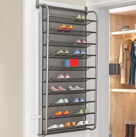 lzndeal Over Door Hanging Shoe Rack Shoes Organizer Wall Mounted Shoe Hanging Shelf Multi layer Household  RETAIl price 49 99