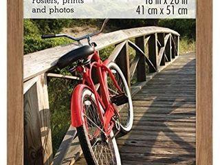 DAMAGE SEE PICTURES  Mcs 16x20 Inch Museum Poster Frame  Medium Oak Woodgrain 68860  Retails 38 28