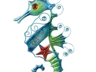 Blue Beach Mosaic Seahorse Wall Art  RETAIl price 25