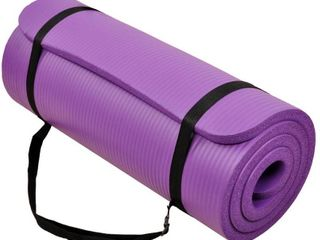 BalanceFrom GoYoga All Purpose 1 2 Inch Extra Thick High Density Anti Tear Exercise Yoga Mat with Carrying Strap