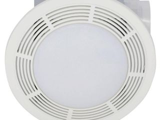 Broan Model 751 Fan light  100 CFM  3 5 Sones  Round White Grille with Glass lens  Retails 207 42