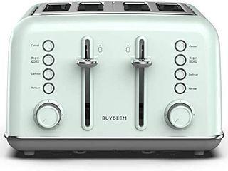BUYDEEM DT 6B83 4 slice Toaster  Cozy Greenish  Retails 59 99