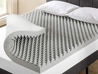 Mattress 4  inch egg crate memory foam topper with bamboo Charcoal infusion  Retails 68 99