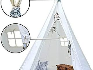PEP STEP Teepee tent for kids  White  Retails 59 99