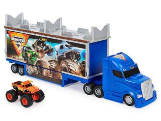 Monster Jam Official 2 in 1 Transforming Hauler Playset with Exclusive 1 64 Scale El Toro loco Die Cast Monster Truck