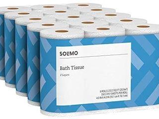 Premium Toilet Paper Rolls Bathroom 2 ply 350 Sheets Bath Per Roll 6 Count Soft