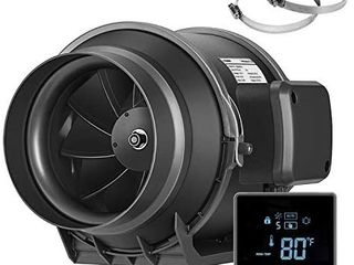 VIVOSUN 6 Inch Inline Duct Fan with Temperature Controller Ventilation Exhaust Fan for Grow Tent