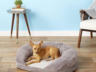 K H Pet Product Orthopedic Bolster Cat   Dog Bed  Gray  Medium  Retails 93 99