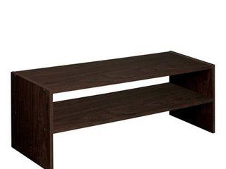 31  Stackable Shelf Espresso   Room Essentials