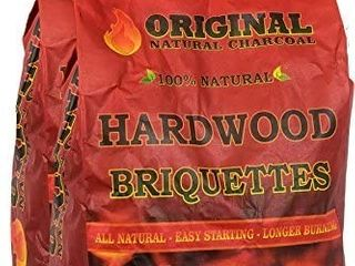 Original Natural Charcoal Hardwood Briquettes 2 X 100  Premium All Natural Pillow Shaped Charcoals   lights Easy  Burns Quickly  Adds Extra Flavor to Meats   100   7 07 lb  Retail  50