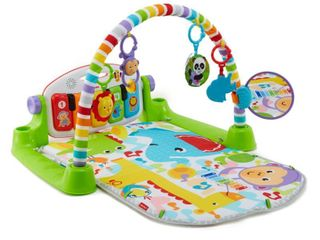 Fisher Price FVY57 Deluxe Kick   Play Piano Gym Play Mat with Toys   Piano Keys