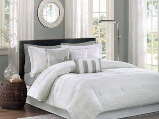 White Cullen Comforter Set Queen 7pc