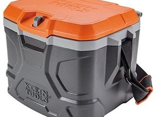 Klein Tools 55600 Work Cooler  17 Quart lunch Box Holds 18 Cans  Keeps Cool 30 Hours  Seats 300 lb  Tradesman Pro Tough Box