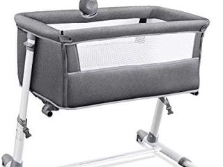 RONBEI Bassinet for Baby  Newborn Bedside Bassinets with Wheel  Infant   Toddler Beds with Cribe Mobile