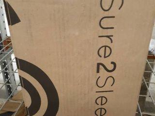 Sure2Sleep Gel Swirl Memory Foam Mattress Topper Made in USA 2 Inch  King