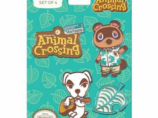 Animal Crossing  New Horizons lapel Pin Set   4pk  Grey